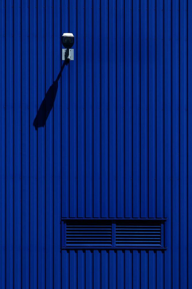Blaue Fassade