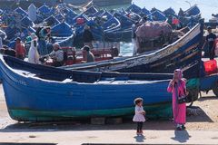 Blaue Fischerboote