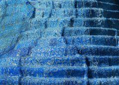 Blaue Kaskade