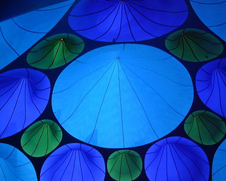 blaue Kreise