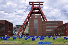 Blaue Schafe auf Zollverein