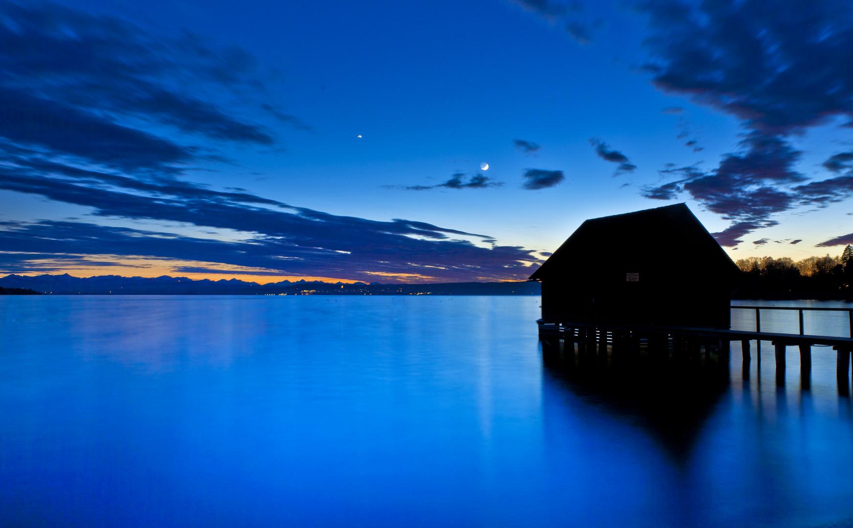 Blaue Stunde am Ammersee - heute
