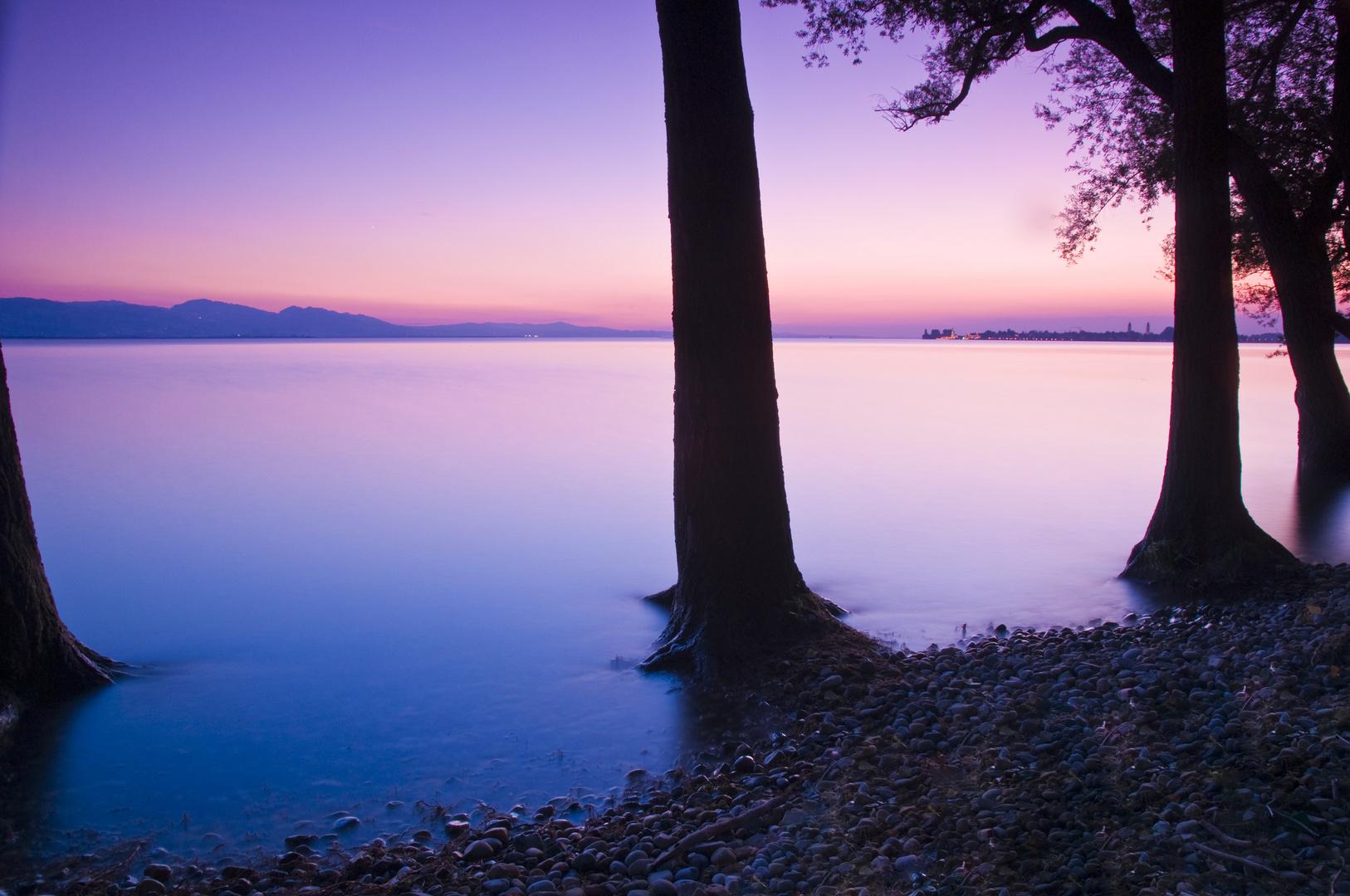 Blaue Stunde am Bodensee...