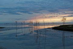 Blaue Stunde am Kutterhafen von Wremen