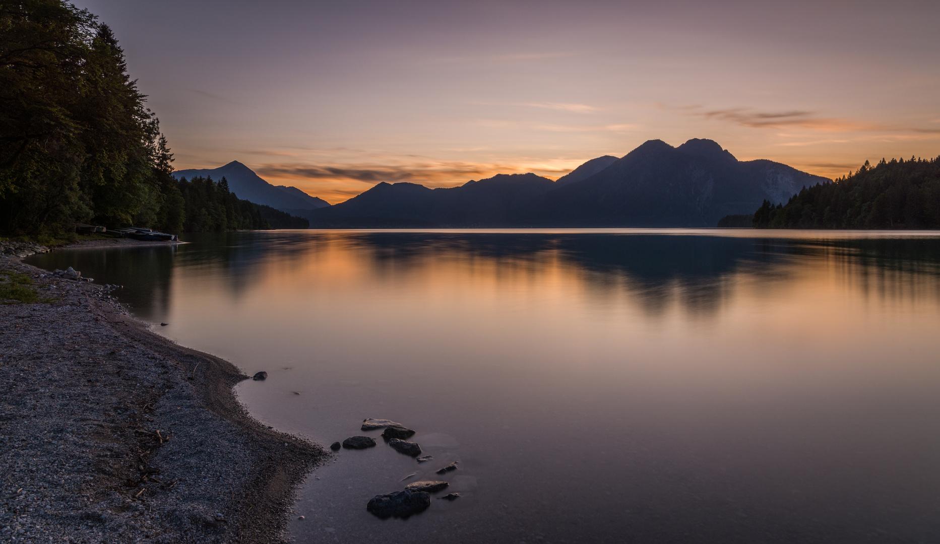 Blaue Stunde am Walchensee