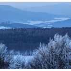Blaue Stunde am winterlichen Köterberg/ Weserbergland
