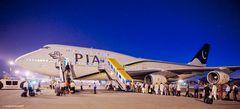 Blaue Stunde auf dem Benazir Bhutto International Airport, Islamabad