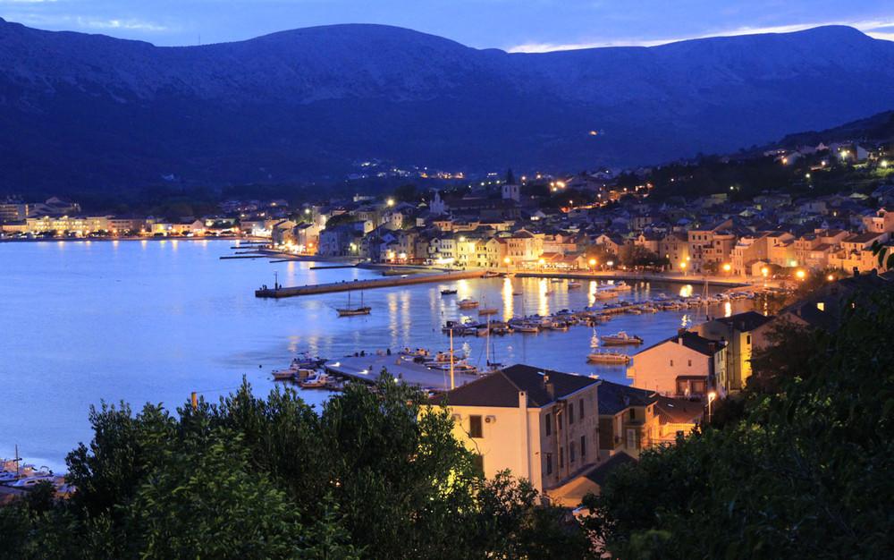 Blaue Stunde auf der Insel KRK - Baska