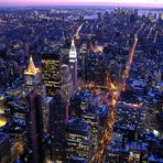 Blaue Stunde - Blick vom Empire State Building....
