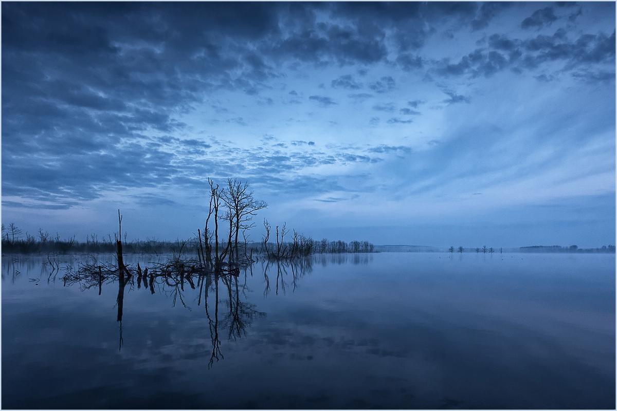 Blaue Stunde - heute früh