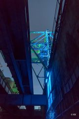 Blaue Stunde im ehemaligen Hochofenwerk