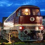 Blaue Stunde im Eisenbahnmuseum