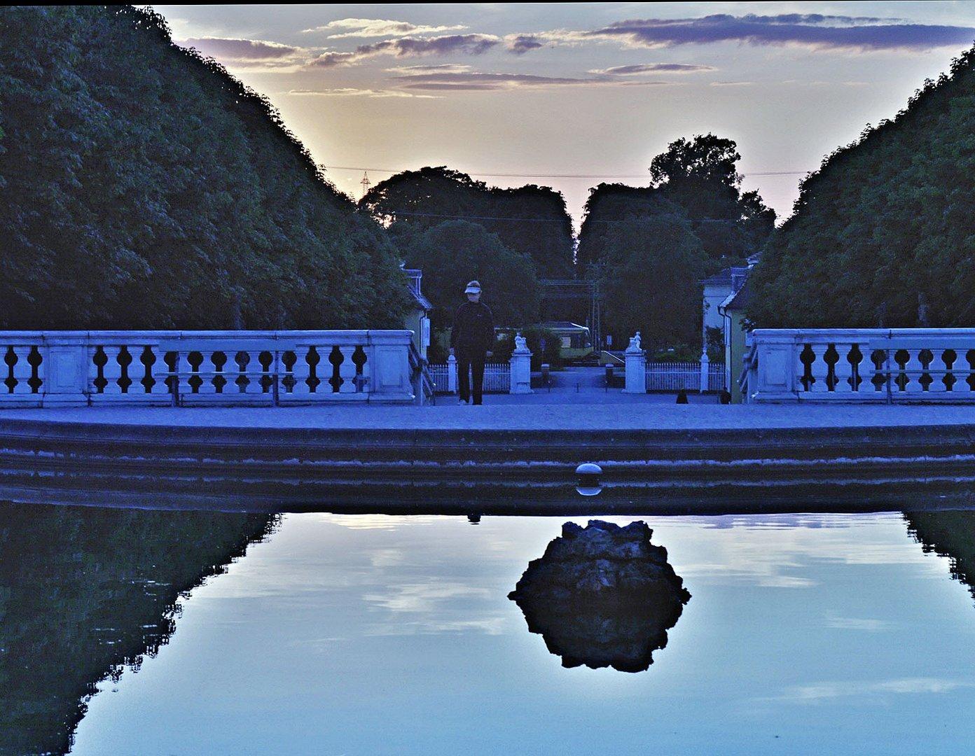 """"""" Blaue Stunde"""" im Schlosspark in Bruchsal"""