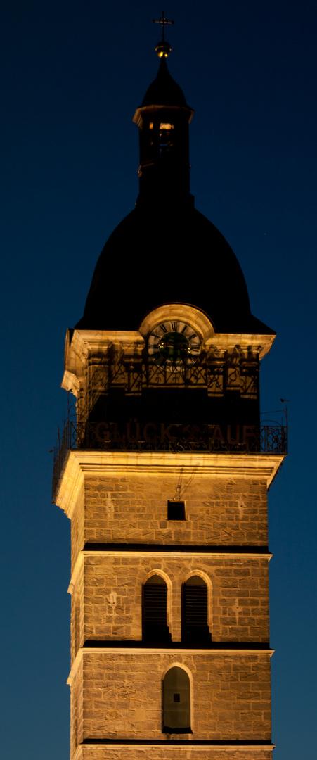 Blaue Stunde in Auerbach