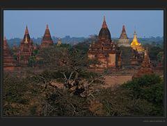 Blaue Stunde in Bagan