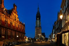 Blaue Stunde in Delft
