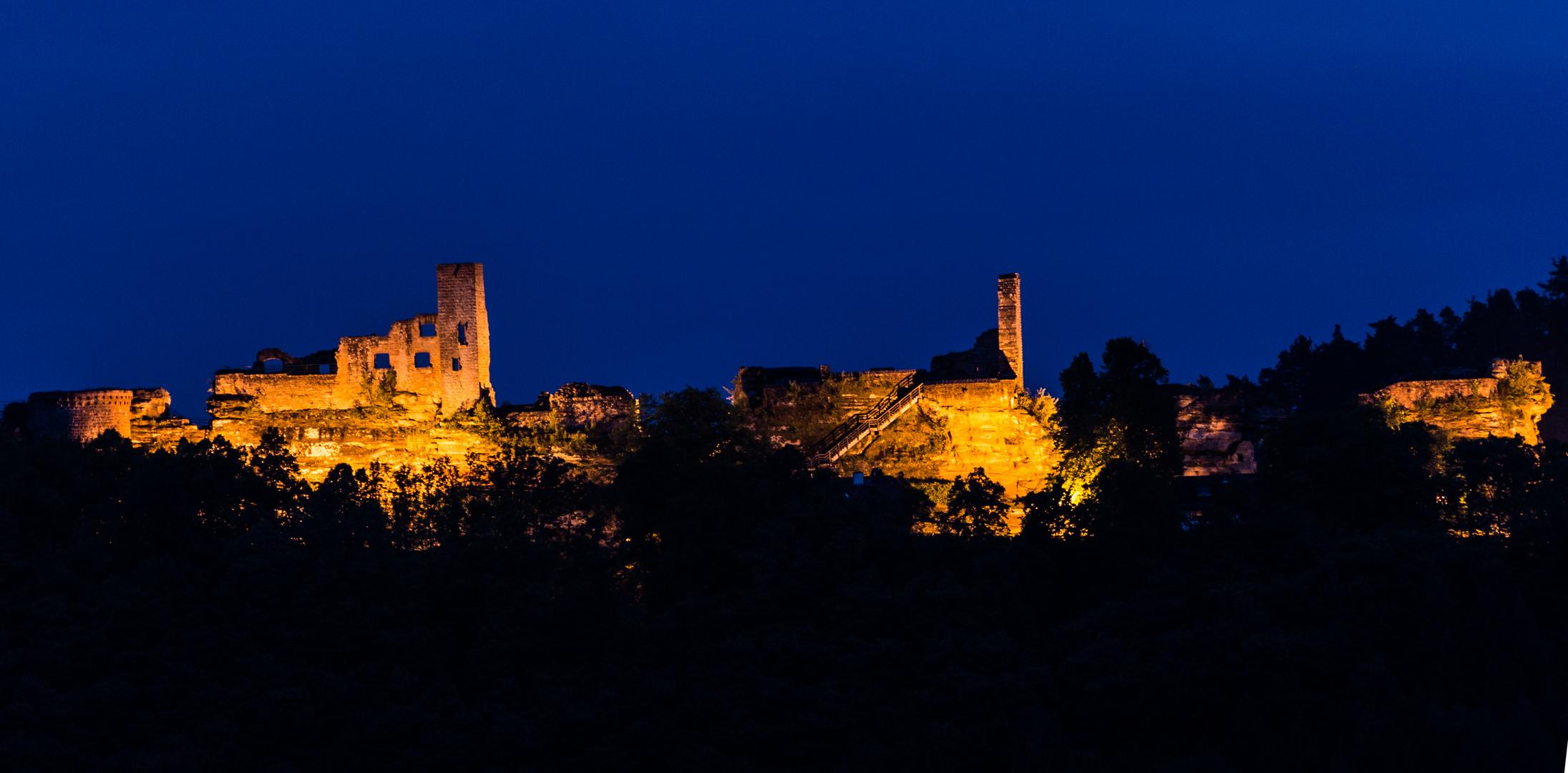 Blaue Stunde in der Pfalz