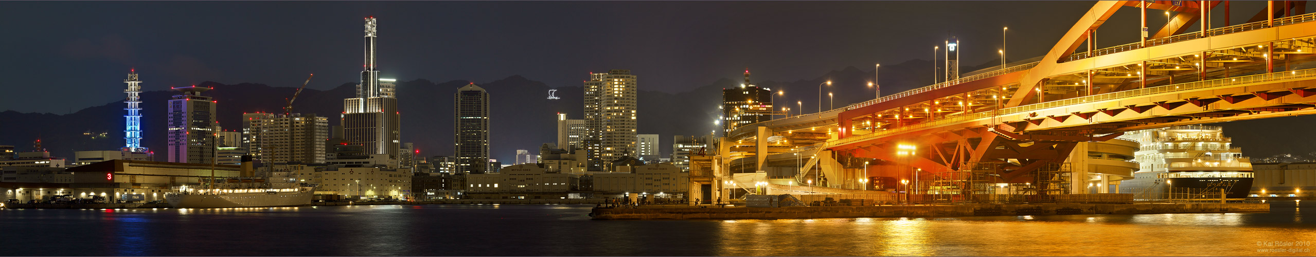 Blaue Stunde in Kobe