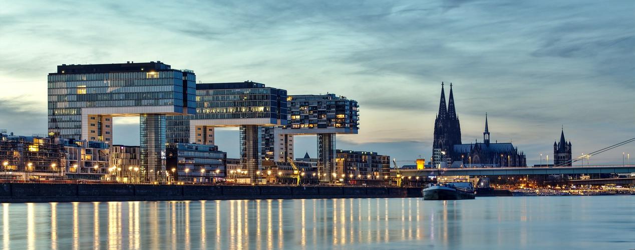 Blaue Stunde in Köln