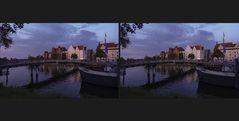 Blaue Stunde in Lübeck 1 (3D)