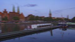 Blaue Stunde in Lübeck 13 (3D)