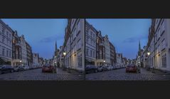 Blaue Stunde in Lübeck 4 (3D)
