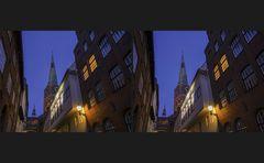 Blaue Stunde in Lübeck 5 (3D)