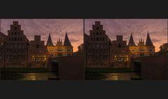 Blaue Stunde in Lübeck 7 (3D)