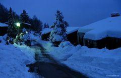 Blaue Stunde in Solla