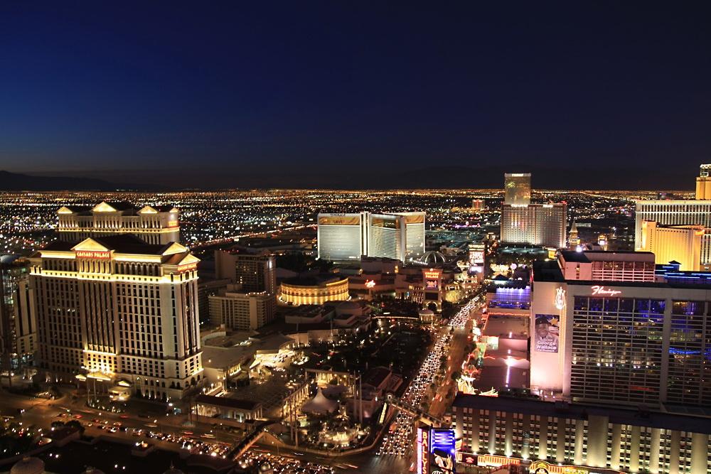 Blaue Stunde in Vegas