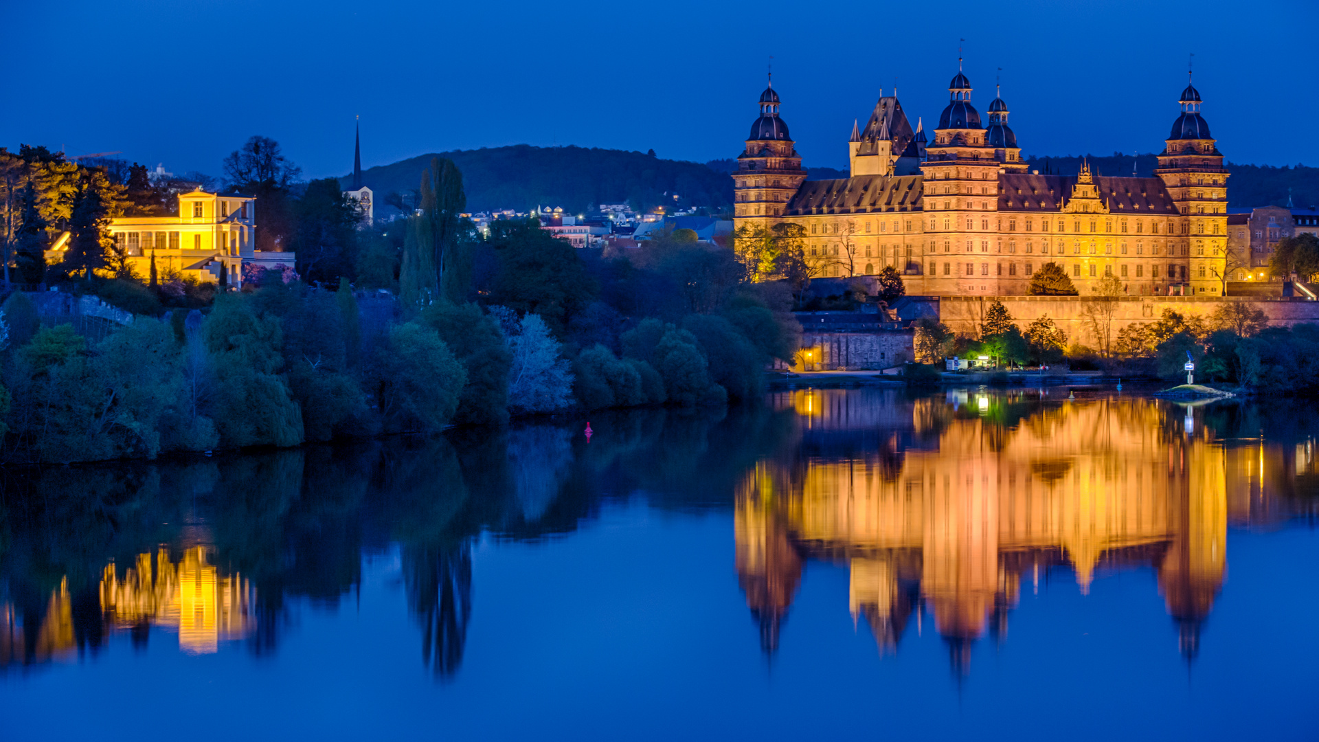 Blaue Stunde Schloss Aschaffenburg
