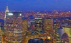 ... blaue Stunde über NYC
