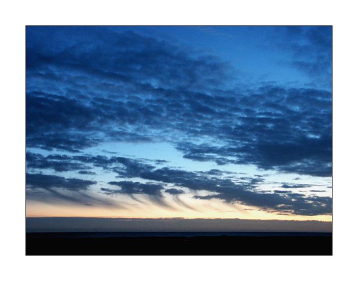 blaue Stunde überm Watt