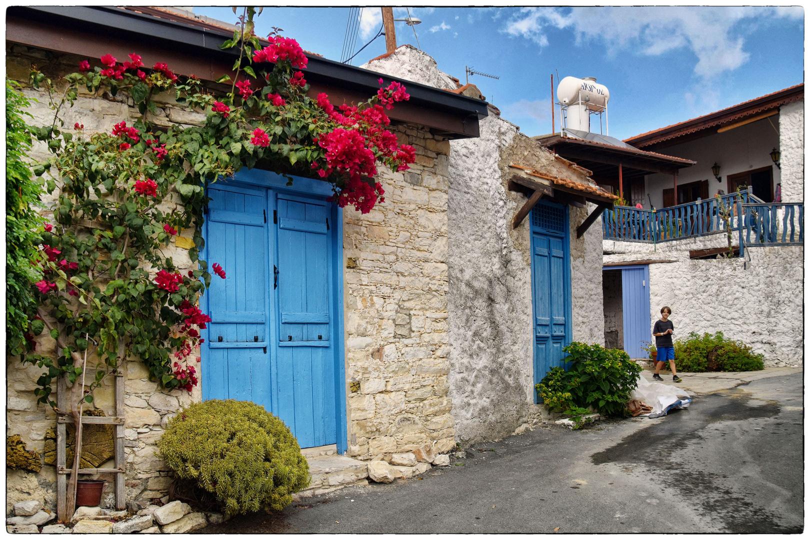 blaue Türen