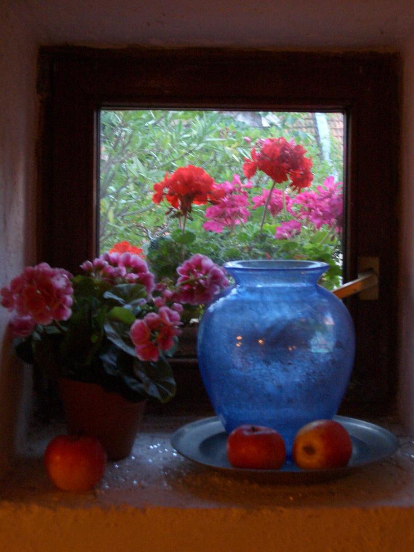 Blaue Vase