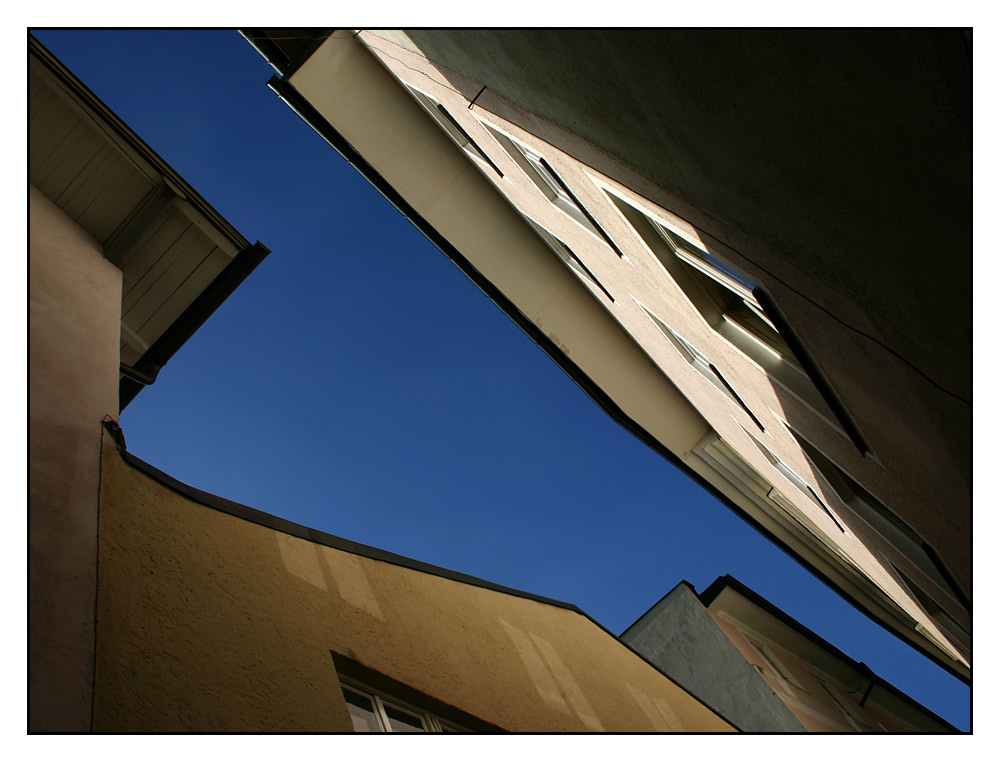 blauer Himmel über Bad Tölz