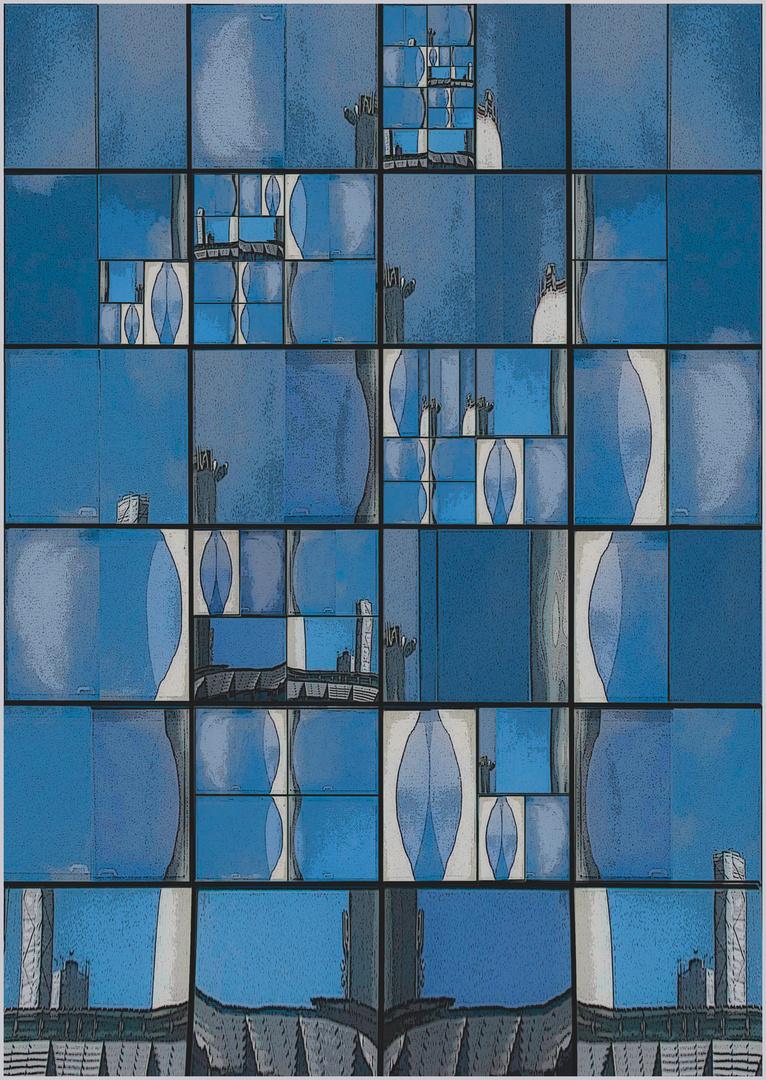 Blauer Spiegel