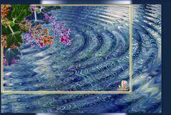 Blaues Blütenbad