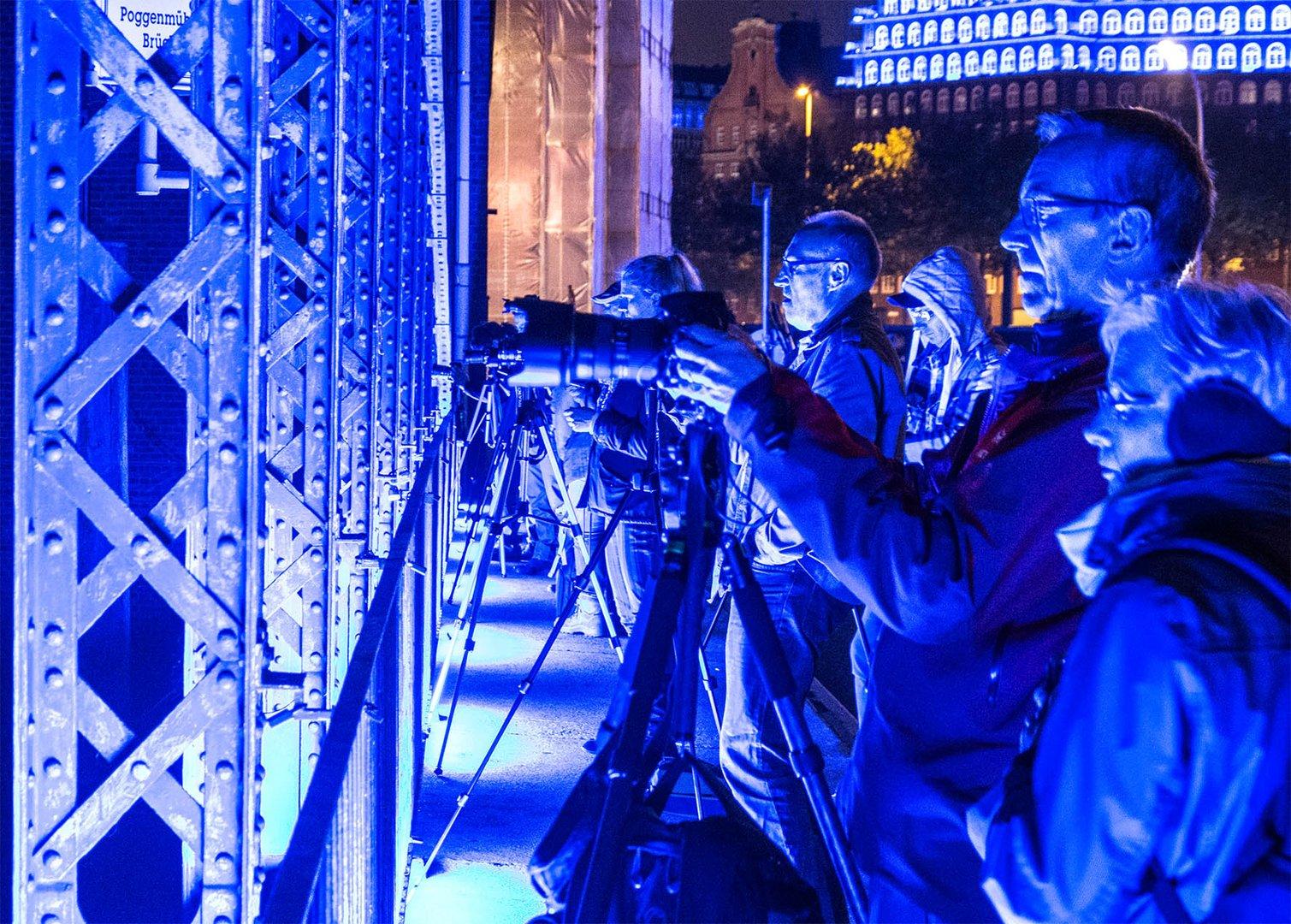 Blaues Rudelknipsen, oder die Blue Man Group