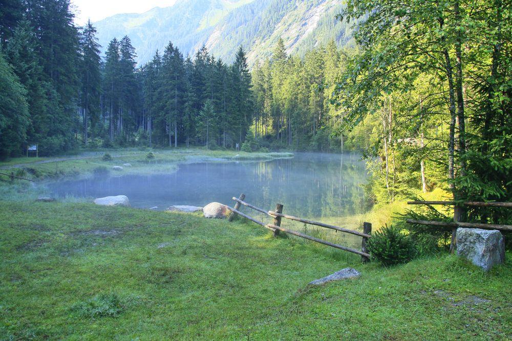 Blausee im Morgendunst