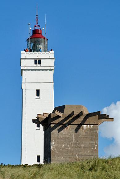 blavand leuchtturm mit einem zeitzeugen des 1000jährigen reiches