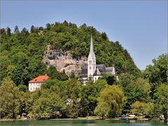Bled - Kirche am Berg