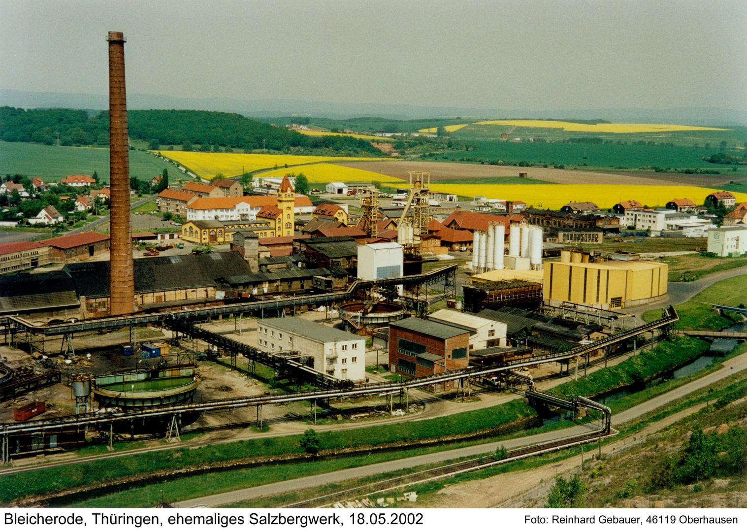 Bleicherode, Thüringen, ehemaliges Salzbergwerk, Untertage-Mülldeponie, 2002