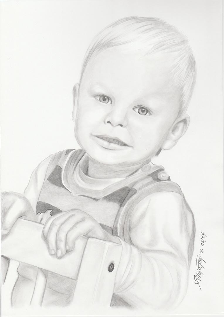 Bleistiftzeichnung kleiner Junge