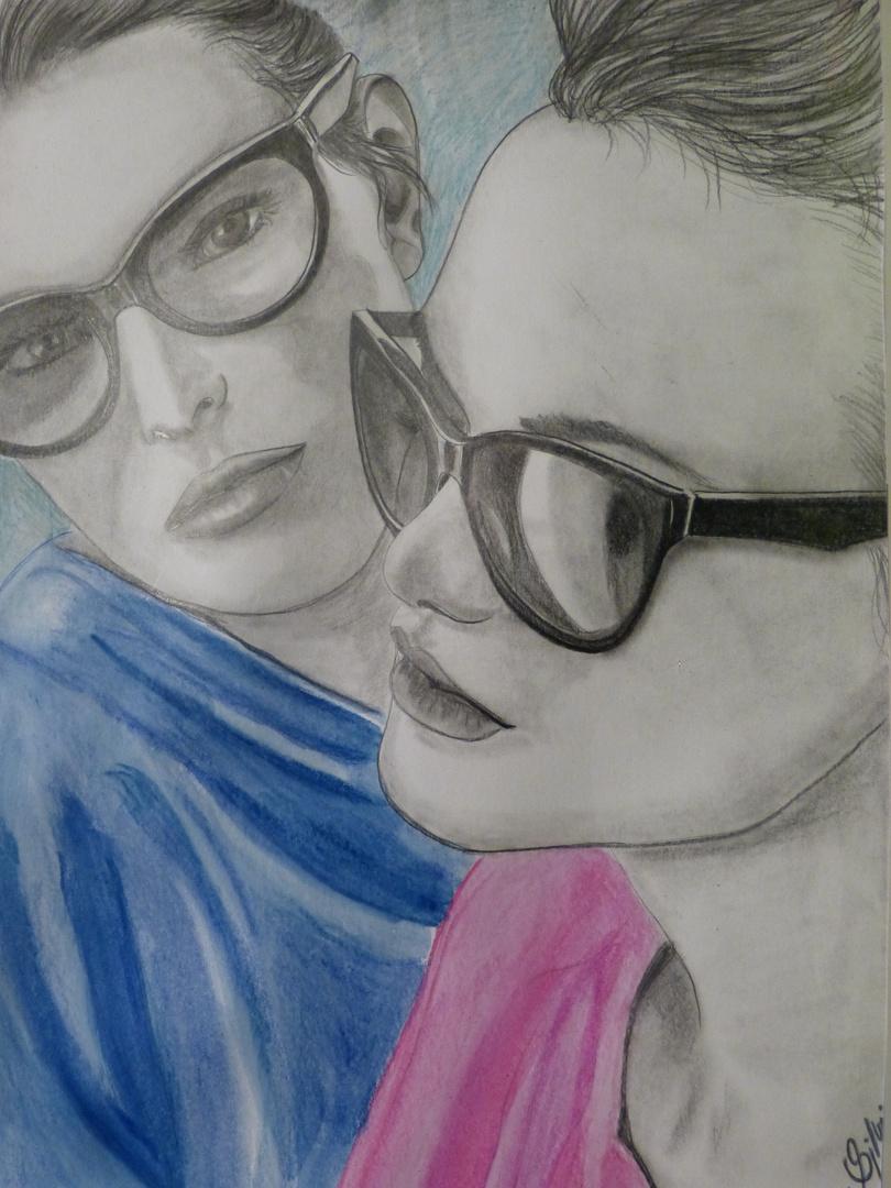 Bleistiftzeichnung mit etwas Farbe :-)