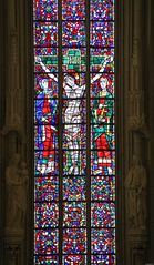 Bleiverglasungen am Hochaltar in der St. Lamberti Kirche Münster (Markt- und Stadtkirche)