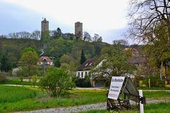 Blick (2) zur Burg Saaleck…