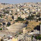 Blick auf Amman mit dem ehemaligen Römischen Zentrum
