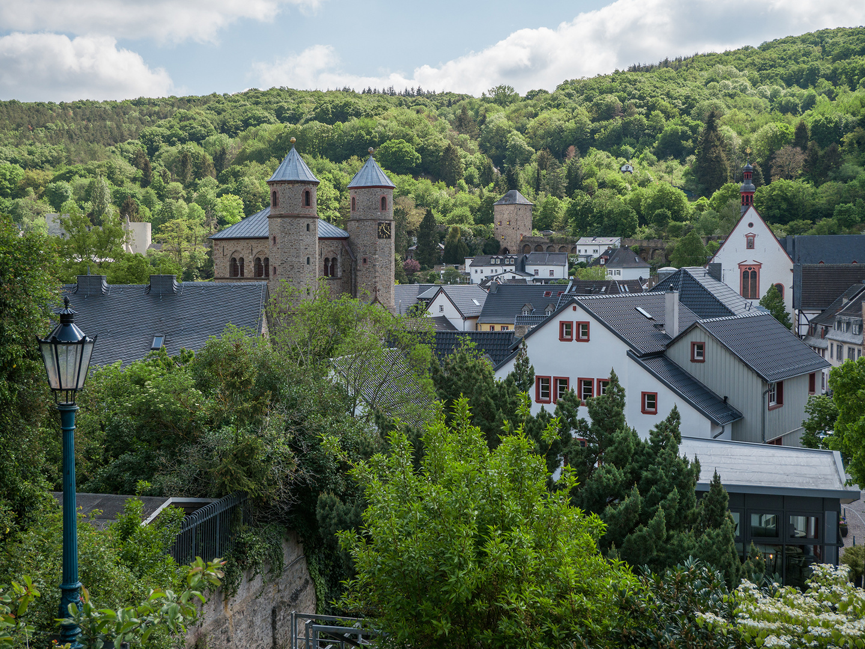 Blick auf  Bad Münstereifel von der Stadtmauer