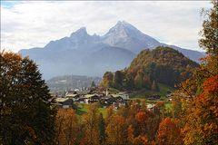 ~ Blick auf Berchtesgaden mit Watzmann ~